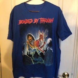 Bonded by Thrash Blue Metal T-Shirt